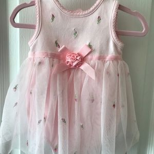 Baby Pink Dress w Light Pink/White Tulle